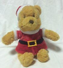 "Gund Santa Winnie The Pooh 10"" Plush Christmas 320388 Disney Stuffed Animal Toy"