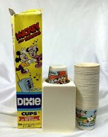 Disney Mickey Minnie Mouse Dixie Cups Pop-Up Bathroom Kitchen Dispenser LOT Box