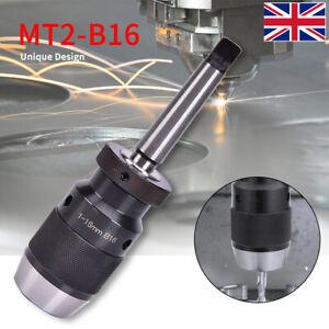 1-16mm MT2-B16 B16 Self Tighten Keyless Integrated Drill Chucks  w/Taper Arbor