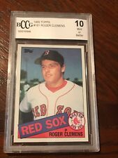 1985 Topps Roger Clemens ROOKIE RC #181 BCCG Beckett 10  MINT or Better