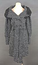 Ringspun Winter Coat 3/4 length Jacket with imitation fur color Black/gray sz M