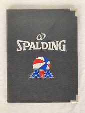 Rare Aba Spalding Padfolio Portfolio Notebook Black Basketball New!