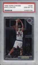 Vince Carter Raptors 1998 99 Topps Chrome #199 Rookie Card rC PSA 10 Gem Mint