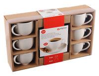 6er-Set Espressotassen mit Untertasse Tassenset Porzellan Weiß Kaffee Tassen