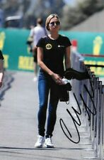 Carmen Jorda SIGNED , F1 Team Lotus Renault Test & Development Driver 2015