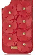 Burberry Prorsum Red Flower Gel Leather iPhone 5S Sleeve Wallet Jelly Case $395
