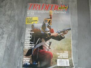 TRADITION MAGAZINE N°32 SEPTEMBRE 1989 / ARMES / UNIFORMES / COLLECTIONS