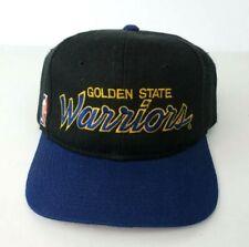 Vintage Sports Specialties Golden State Warriors Black Dome Script Snap Back Hat