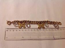 Metal Butterfly Bracelet. Ladies Gold Coloured
