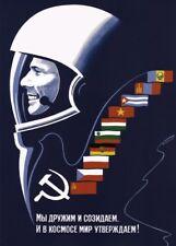 "Russian Propaganda Poster ""WE ARE CREATIVE AND FRIENDLY"" Soviet Communist Print"