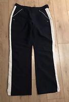 Adidas Women's Golf Trousers Size 16 Navy Blue Button/Zip 32L