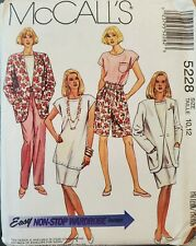 McCall non-stop wardrobe pattern 5228 Misses Jacket, Tunic, Skirt sz 10,12 uncut