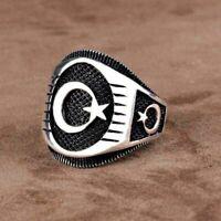 Turkish Handmade Jewelry 925 Silver İslamic Men's Women Wedding Ring Size 5-11