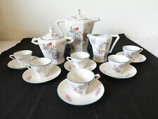 Service a Café ART DECO en porcelaine signé DRB LIMOGES