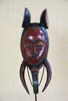 BB3 Guro Baule Maske alt Afrika / Masque Gouro ancien / Old tribal mask Africa