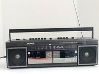 Sony FM/AM Stereo Cassette Cored CFS-W30 Double Deck w/ Power Cord Working