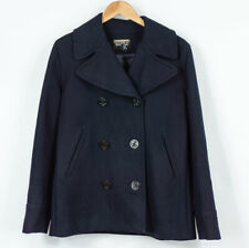 Polo Jeans Ralph Lauren Pea Coat Navy Blue Wool Womens Size L UK14