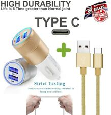 Type C Car Charger USB Dual Bullet for Samsung Galaxy S8 S8 Plus A3 2017 A5 2017