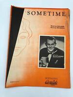 Sheet Music - Sometime - Vaughn Monroe - Gus Kahn - Ted Fiorito - Vintage