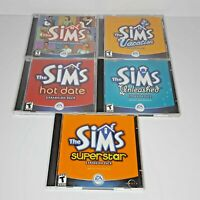 The Sims PC CD Game Original+4 Expansions Unleashed Hot Date Vacation Superstar