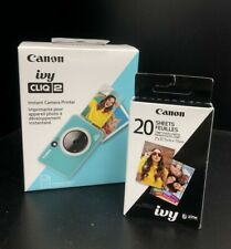 Canon Ivy CLIQ 2 Instant Camera Printer CV-223-MTQ - Turquoise