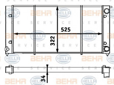 Kühler, Motorkühlung für Kühlung HELLA 8MK 376 713-304