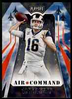 2019 PLAYOFF AIR COMMAND JARED GOFF LOS ANGELES RAMS #18 INSERT