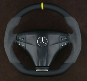 Mercedes Fully customized steering wheel flat bottom W203 C32 C320 C55 AMG w209