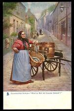 Illustrated Songs Caller Herrin street scene Tuck Oilette 1160 vintage PPC