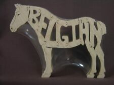 Belgian Draft Horse Wooden Tack Room Puzzle Toy New