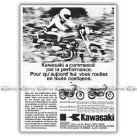 PUB KAWASAKI 500 MACH III H1, 900 Z1, 750 MACH 4 H2 Ad / Publicité Moto de 1973