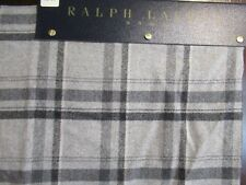 "NEW Sample Ralph Lauren Home Upholstery Fabric Gray Wool Plaid 27"" x 26"""