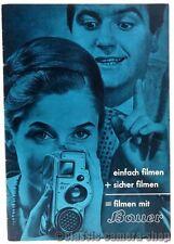 """BAUER Prospekt """" Bauer - 88F / 88G / 88H / ZUBEHÖR / PROJEKTOR """" Broschüre X2234"""