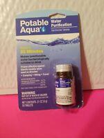 Potable Aqua Iodine Germicidal Water Purification 50-Tablets Bottle Camp/Hike
