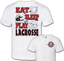Lacrosse Play for Food T-Shirt Jersey Short Sleeve Tee New Adult and Youth Sizes