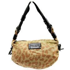 kate spade Shoulder Bag Leopard pattern Beige Nylon x Leather  Used Auth C3683