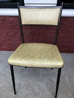 Vintage MCM COSCO Fashionfold Folding Metal Steel Patio Kitchen Chair RV Trailer