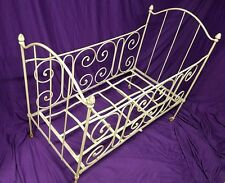 19th Century French Antique Baby Crib Victorian Vintage Wrought Iron *Foldable*
