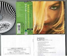 MADONNA GHV2(Greatest Hits Vol.2) JAPAN CD WPCR-11130 w/OBI+BOOKLET Free S&H/P&P