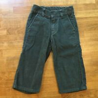 Hanna Andersson Boys Gray Corduroy Pants Size 80 2 2T