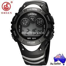 OHSEN Cool Digital Watch for Boy's Kids Sport Alarm Waterproof from Mel Black