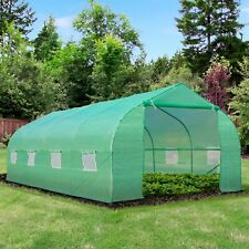 More details for outsunny poly tunnel walk in peak top greenhouse garden planting 6 x 3 x 2m tent
