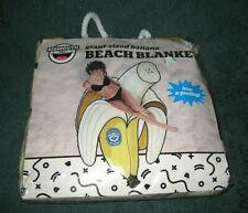 Big Mouth Inc Giant Size Yellow & White Banana Beach Blanket Towel 78.5 x 50 New