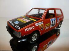 BBURAGO 9104 FIAT UNO - #40 ROMBI CORSE PIONEER - RED 1:24 - GOOD CONDITION