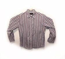 Kenneth Roberts Platinum Long Sleeve Shirt Striped Size L Large