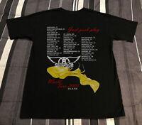 2001 Aerosmith Just Push Play Vintage Gildan Tshirt Reprint Tour Rock Band S-3XL