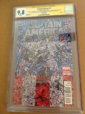 CGC SS 9.8 Captain America #19 Variant signed Lee Evans Mackie Grillo Tucci +4