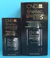 New! CND SHELLAC XPRESS 5 TOP COAT ~ Pick .25 or .5 fl oz, 5 minute removal NIB