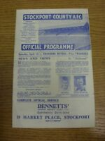 13/04/1946 Stockport County v Tranmere Rovers [Division 3 North West] (small fol