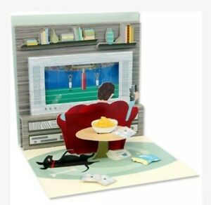 3D Pop Up Greeting Card~Couch Potato~Father's Day, Happy Birthday